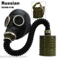 Unissued Russian Surplus 420 Gas Mask w/ Filter, Hose & OD Carry Bag Steampunk