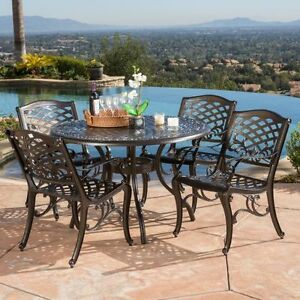 patio furniture sets clearance dining set aluminum 5 piece outdoor garden cast ebay. Black Bedroom Furniture Sets. Home Design Ideas