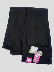 2-X-Girls-Black-Crease-Resistant-Teflon-Easy-Iron-Adj-Waist-School-Trousers-9-yr
