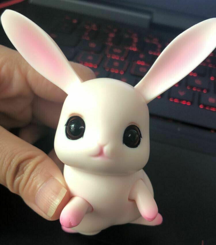 1 12 BJD SD muñeca Lindo Mini muñeca mascota Conejo Bunny Ojos Libre De Maquillaje Gratis De Regalo