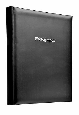 Deluxe Large Black Self Adhesive Photo Album Hold Various Sized Photos  50 Pages