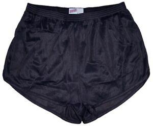 Black-Nylon-Ranger-Panties-Silkies-Running-Track-Shorts-by-Soffe-Men-039-s-Large
