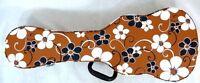 Free Shipping--Soprano Size Ukulele Hard Case (Pretty Flower Pattern)
