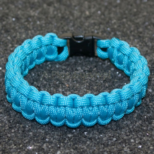 environ 249.48 kg Neon Turquoise 550 LB TYPE III Paracord Survie Corde Bracelet Made in USA