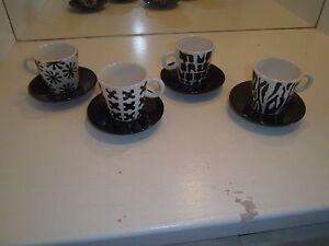 4-Home-Target-Demitasse-Espresso-Cups-amp-Saucers-Black-amp-White-4-patterns