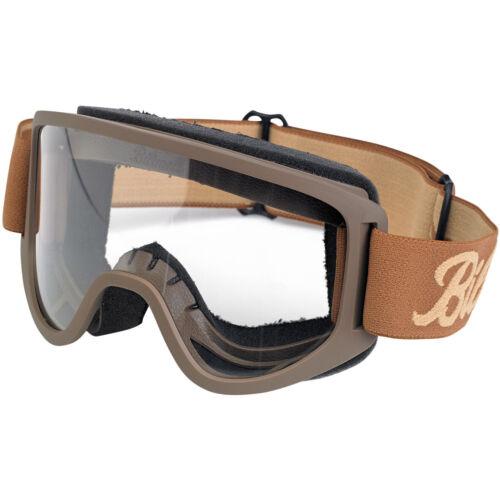 Script Chocolate//Sand Biltwell Inc Moto 2.0 Motorcycle Helmet Goggles