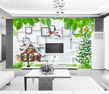 Papel Pintado Mural De Vellón Casa Del Árbol De Navidad 2 Paisaje...