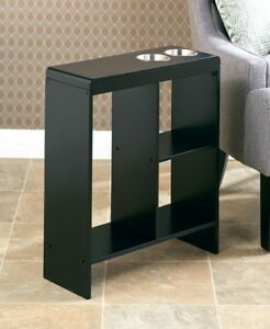 Image Is Loading Small End Table Slim Side Tables Drink Holder  Part 85