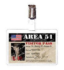 Indiana Jones Area 51 ID Badge Card Cosplay Prop Novelty Costume Comic Con