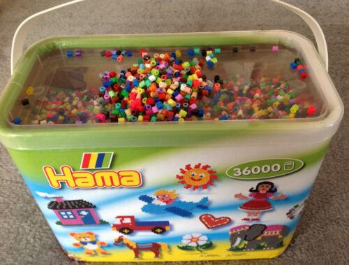 203-68 Basteln & Kreativität Perlen 36000 Hama Bügelperlen im Eimer Nr