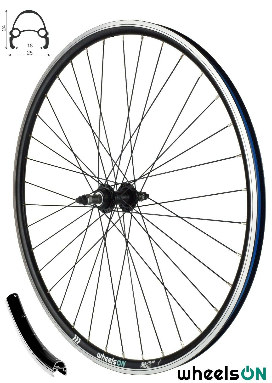 Bicycle Rear Wheel Rim 28x 1 3//8 5//8 700x35 Holland 6//7v C//Release