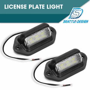 2pCS-6-LED-Surface-License-Plate-Light-Tag-Interior-Step-Trailer-Truck-RV-12V