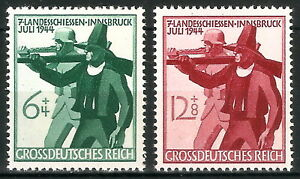 DR-Nazi-3rd-Reich-Rare-WWII-Stamp-1944-Hitler-039-s-Tyrolean-Shooting-Competitions