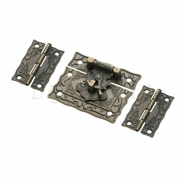 51*43mm Unique Amboss Suitcase Jewelry Box Latch Clasps Trinket with 2pcs Hinges