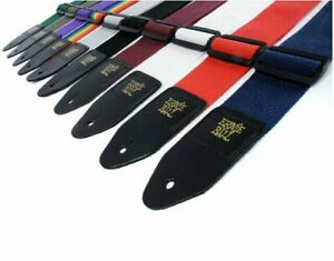 Ernie Ball Polypro Guitar Strap Acoustic Electric Black Red White Purple More