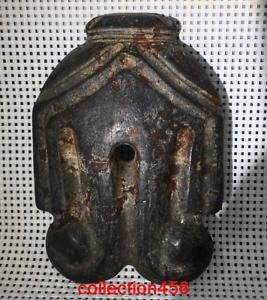 """6.2""""rare China Hongshan Culture Meteorite Mask statue"""