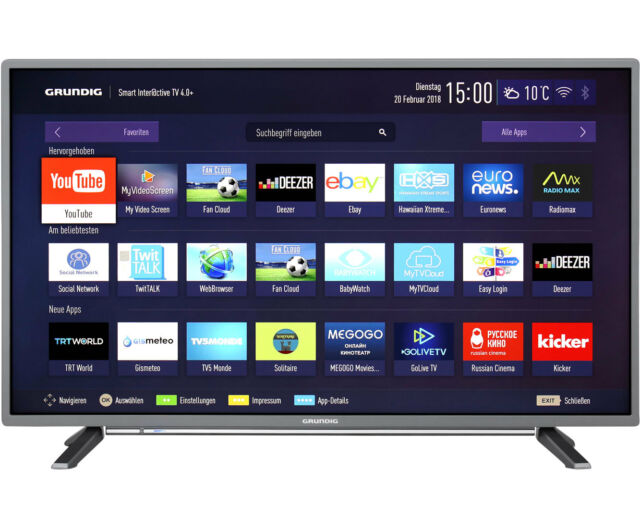 Grundig 43 GFT 6728 Full HD LED Fernseher 108 cm [43 Zoll] Anthrazit