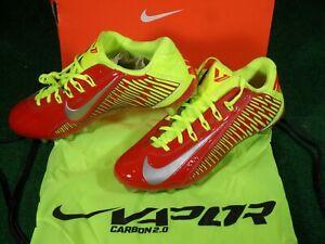 NIB-Nike-Vapor-Carbon-Elite-2014-TD-Football-Cleats-Red-Metallic-Silver-11-Bag