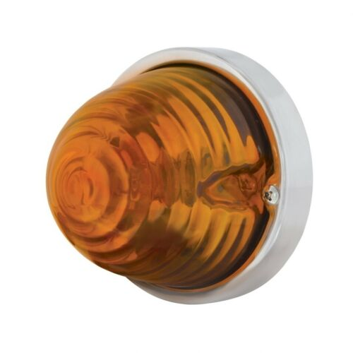 Beehive Large Glass Marker Light w// 1157 Bulb Amber