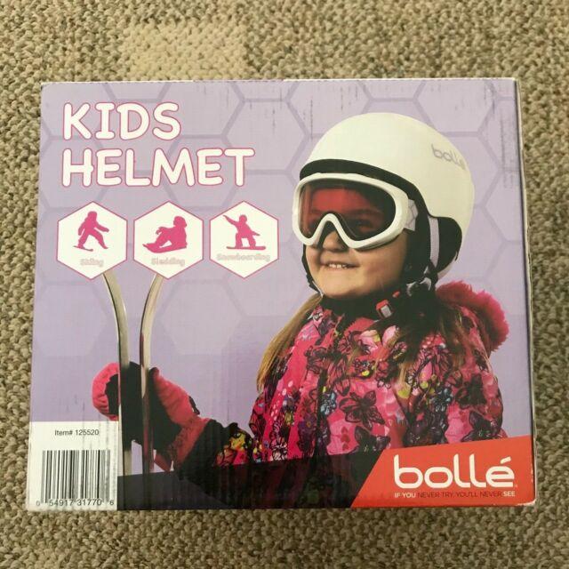 Bollé Kids Ski Helmet White Size XS Skiing Sledding Snowboarding (9631)