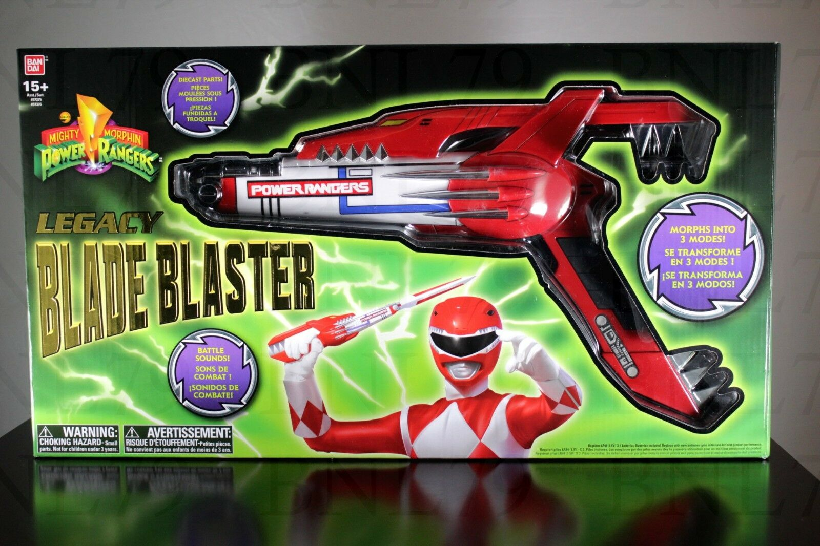 Blade Blaster Legacy Mighty Morphin Power Rangers Mighty Morphin Power Rangers Die Cast Étui Mode Nouveau