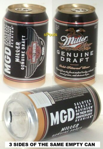 1998 HARLEY-DAVIDSON MOTOR CYCLES 95th ANNIVERSARY MILLER BEER CAN MILWAUKEE,WI.