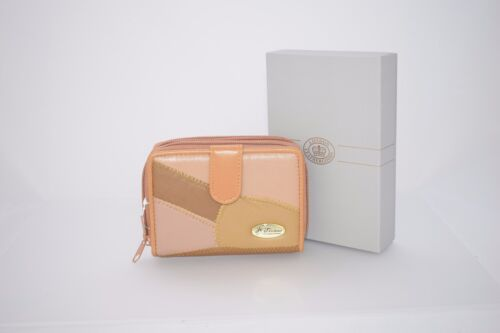 Real Leather Ladies Purse Wallet with Three Sections for Note,Change,Cards etc