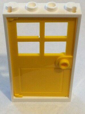 *NEW* 1 Set LEGO 1x4x6 WHITE Frame /& YELLOW Door with 4 PANES