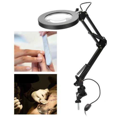 5x LED Loupe Lampe Pince USB Bras Rotation 360° Lumière Froide /& Chaude Réglable