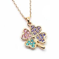 6e9fd6e24 item 4 ~RAINBOW FOUR-LEAF CLOVER~ Pendant Necklace Genuine Clear Swarovski  Crystals -~RAINBOW FOUR-LEAF CLOVER~ Pendant Necklace Genuine Clear  Swarovski ...