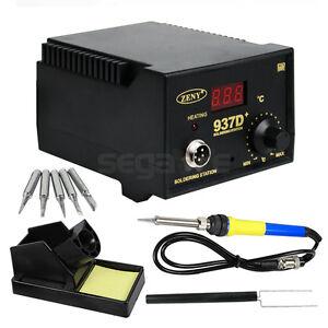 937d smd soldering hot iron station digital adjustable w free 5 tips japan h. Black Bedroom Furniture Sets. Home Design Ideas
