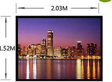 Ecran de Projection 100'' 254 Centimetres 4:3 Blanc Mate PVC Portable Projecteur