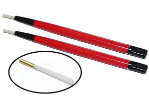 2PC-5-034-Jewelers-Nylon-Fiberglass-Scratch-Brush-Pen-Type-with-extra-Refill