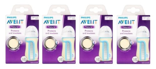Philips Avent Natural Protects /& Insulates Sleeve for 8 Oz Glass Bottle 4 Pack