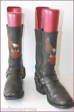 HARLEY DAVIDSON Boots Eagles Leather Black T 8 US / 7.5 UK / 41 EUR  BE