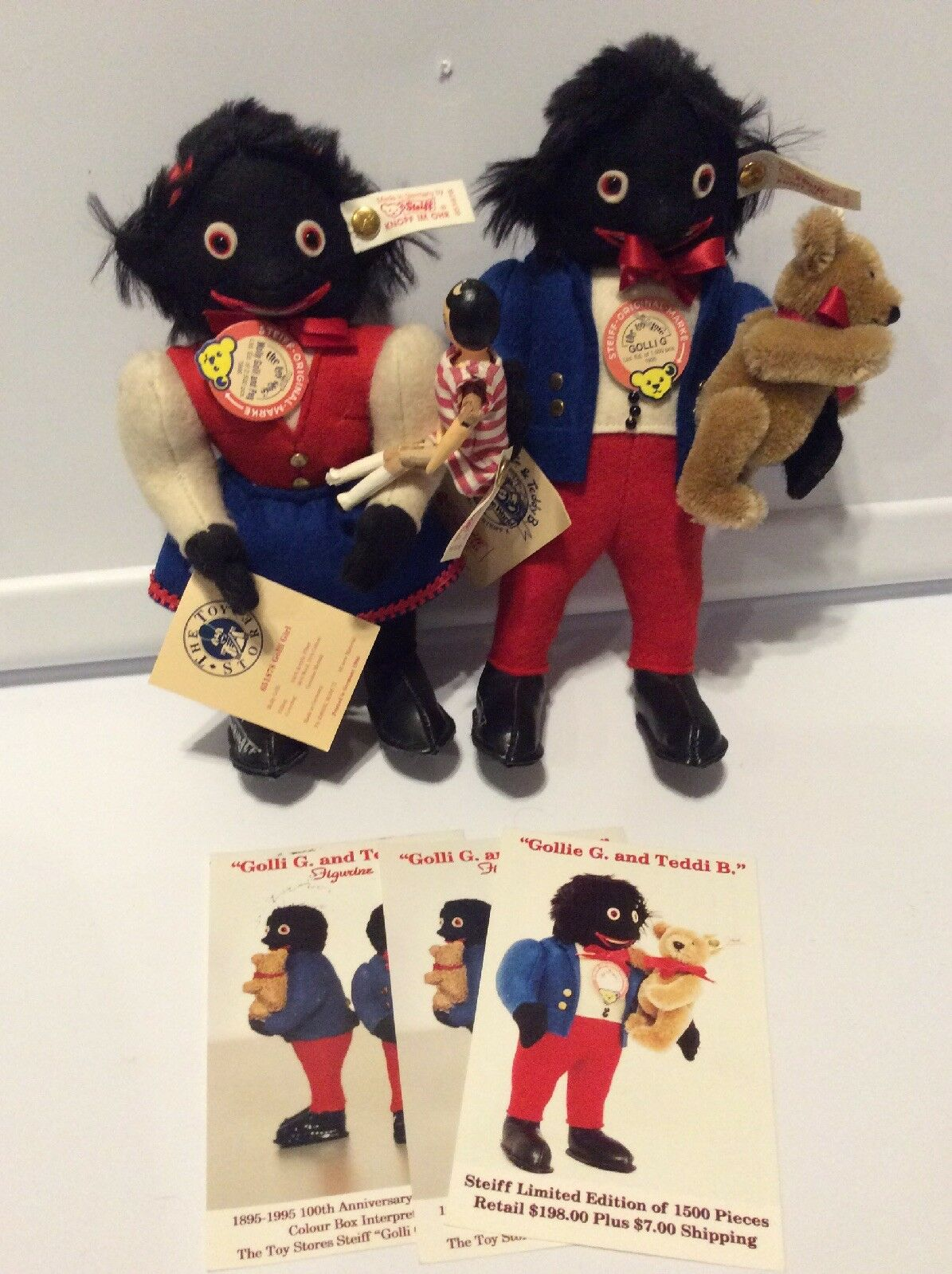Signed Limited Edition Steiff Boy +  Girl