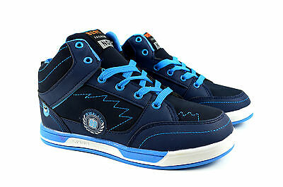 Stylische Damen Sneakers Halbschuhe Turnschuhe Gr.36-41 Blau / Schwarz K-4 NEU