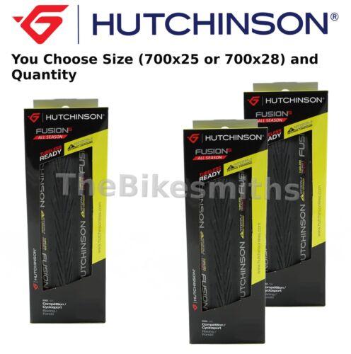 NEW Hutchinson Fusion-5 All Season 700x 23 25 28 Foldng Bike Tire Tubeless Ready