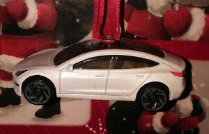 TESLA MODEL 3 CUSTOM MADE CHRISTMAS TREE ORNAMENT WHITE ...