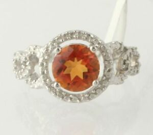NEW-Azotic-Topaz-Cocktail-Ring-925-Sterling-Silver-Band-Diamond-Accents-Size-7