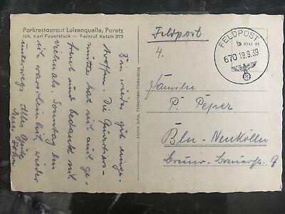 Europa Hell September 19 1939 Polen Picture Postkarte Deutschland Feldpost Abdeckung Zu Blu SpäTester Style-Online-Verkauf Von 2019 50% Polen