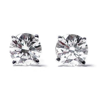 1.00 Ct Round or Princess Cut 14K Gold Diamond Stud Earrings