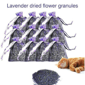 12-Bags-of-Dried-Lavender-in-Small-Lilac-Organza-Bags-Real-Flower-Wedding