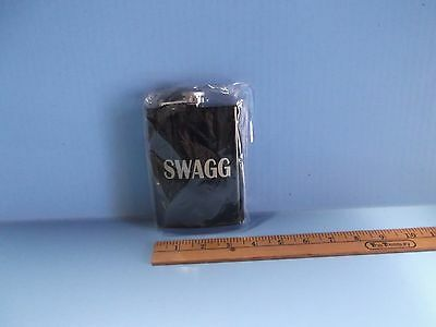 """Black Colored Whiskey Flask Swagg 5""""in Tall X 3.5""""in Wide Wrapped In Plastic Buy One Give One Home & Garden Kitchen, Dining & Bar"""