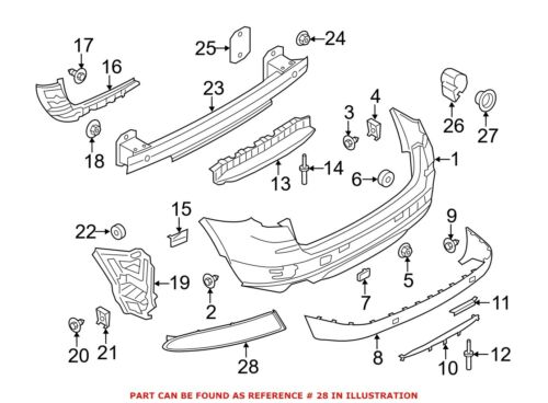 For BMW Genuine Reflector Panel Rear Right 63147217316