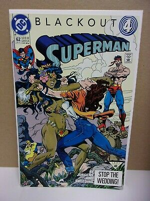 Superman 62 1991 Dc Comic Book 1st Preview Appearance Of Sonic The Hedgehog Ebay