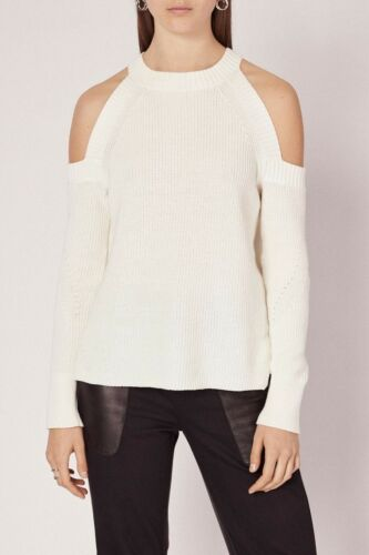 Rag And Bone Jean Dana White Cold Shoulder Sweater