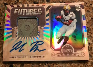 """2020 PANINI LEGACY """"FUTURES"""" RC JARED PINKNEY (VANDY) RC/PATCH/ AUTO SN 015/399"""