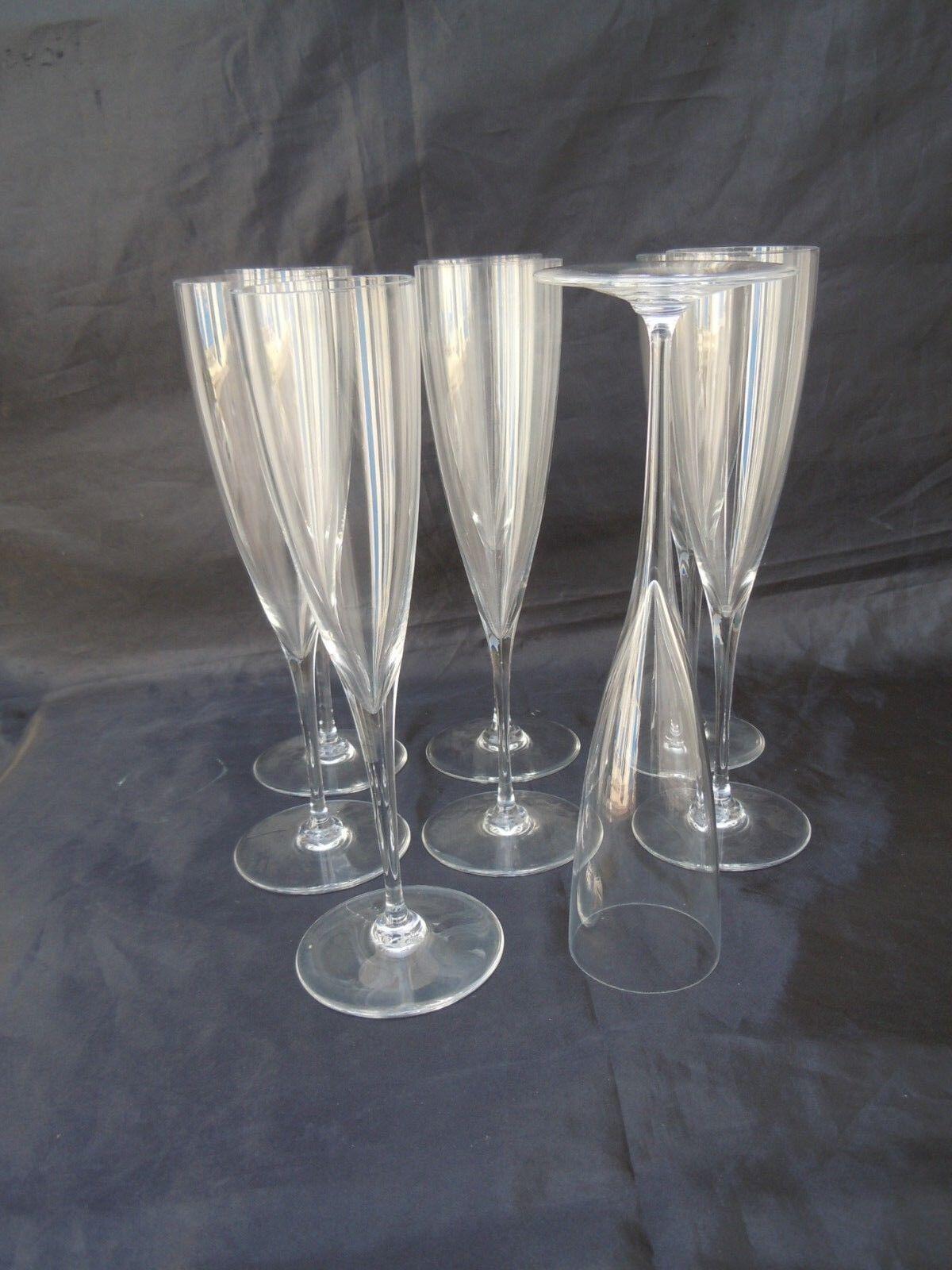 Série flûtes champagne cristal Baccarat modele Dom Perignon