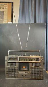 JVC-RC-727jW-Stereo-Radio-Cassette-Boombox-4-Band-FM-Please-Read-Description